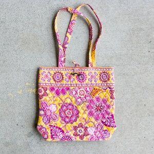 Vera Bradley Tote Bag Yellow + Pink